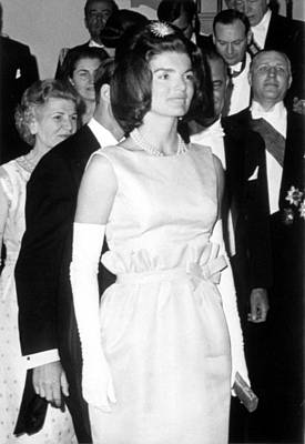 Opera Gloves Photograph - Jacqueline Kennedy At A Dinner To Honor by Everett