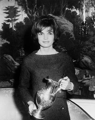 Jacqueline Kennedy Holds A Silver Print by Everett