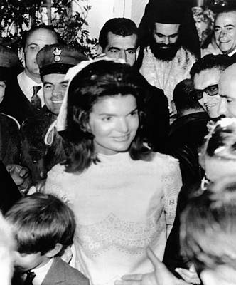Bouffant Photograph - Jacqueline Kennedy Marries Aristotle by Everett