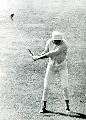 Jacqueline Kennedy, Playing Golf Print by Everett