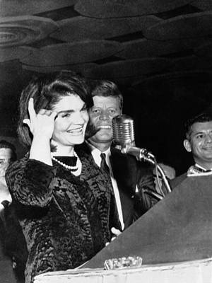 1960s Fashion Photograph - Jacqueline Kennedy Speaking In Spanish by Everett