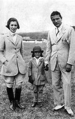 Jacqueline Kennedy, With Her Parents Art Print