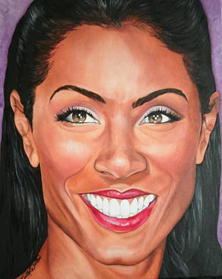 Portraits By Timothe Painting - Jada Pinkett Smith by Timothe Winstead