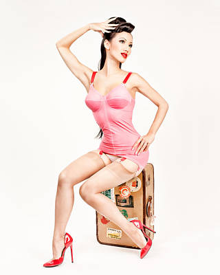 Art Print featuring the photograph Jade Vixen Bubblegum 1076 by Gary Heller