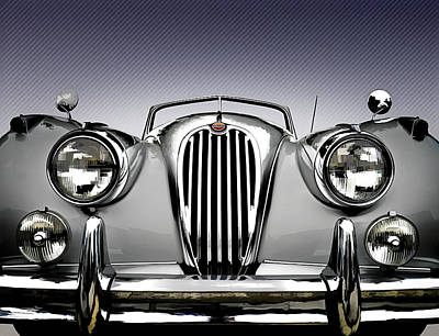 Luxury Digital Art - Jag Convertible by Douglas Pittman