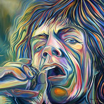 Jagger Art Print by Redlime Art