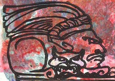 Mayan Jaguar Painting - Jaguar Knight by Ingrid  Schmelter