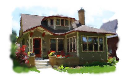 Digital Art - Jahnke Home 4 Impresionist Watercolor by Geoff Strehlow