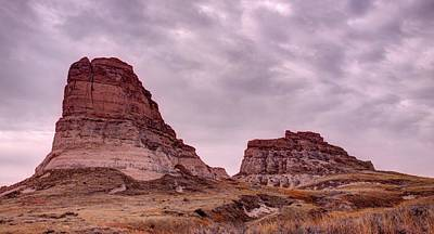 Photograph - Jail And Courthouse Rocks by HW Kateley
