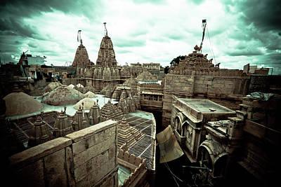Ashram Wall Art - Photograph - Jain Temples  by John Battaglino