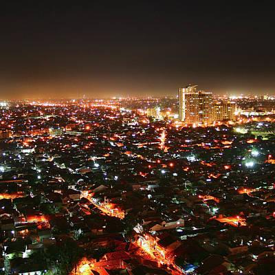 Jakarta At Night Art Print by Simonlong