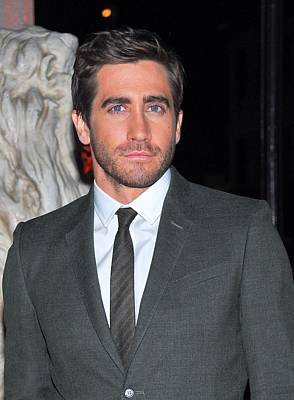 Gray Suit Photograph - Jake Gyllenhaal At Arrivals For Finca by Everett