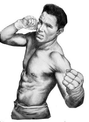 Jake Shields - Strikeforce Champion Art Print by Audrey Snead
