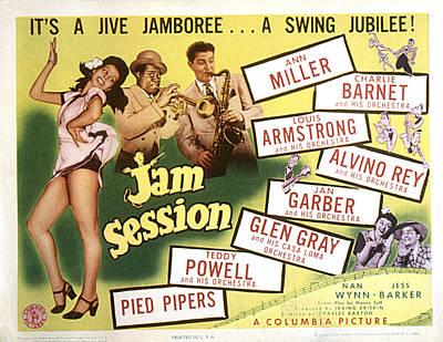 Saxophone Photograph - Jam Session, Ann Miller, Louis by Everett