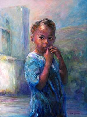 Painting - Jamacian Girl by Bonnie Goedecke