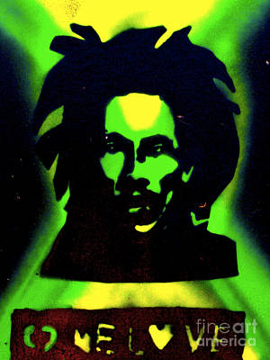 First Amendment Painting - Jamaica 1 Love by Tony B Conscious