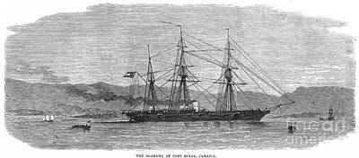 Photograph - Jamaica: Css Alabama, 1863 by Granger