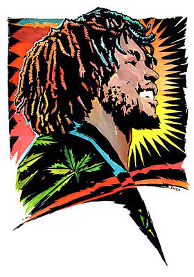 Rastafarian Painting - Jamaican Anagram  Tosh  Shot by Shawn Shea