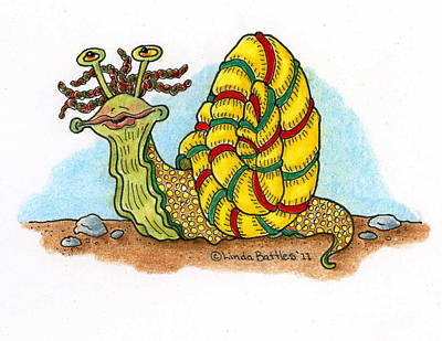 Mixed Media - Jamaican Snail by Linda Battles