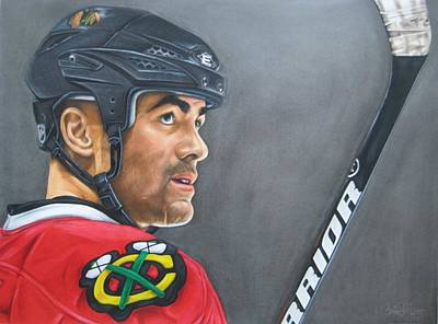 Stanley Cup Drawing - Jamal Mayers by Brian Schuster