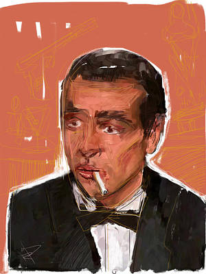 James Bond Art Print by Russell Pierce