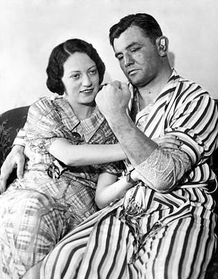 James Braddock Shows Off To Wife May Print by Everett