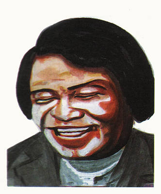 Art Of Soul Singer Drawing - James Brown by Emmanuel Baliyanga