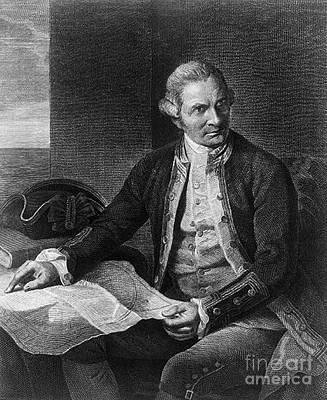 James Cook, English Explorer Art Print by Photo Researchers