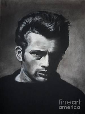 James Dean Drawing - James Dean by Dave Torowski