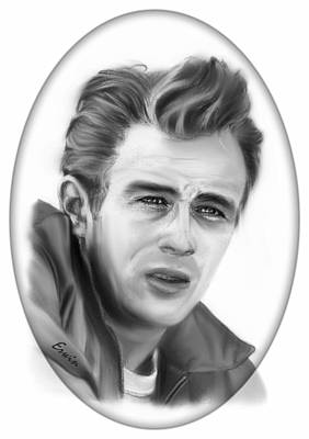 Santa Monica Drawing - James Dean by Erwin Verhoeven