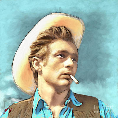 Legend Photograph - James Dean II by Arne Hansen