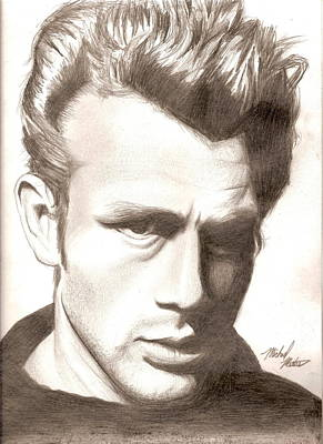 50s Mixed Media - James Dean by Michael Mestas