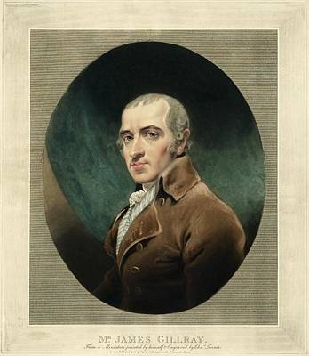 Self-portrait Photograph - James Gillray, British Caricaturist by Miriam And Ira D. Wallach Division Of Art, Prints And Photographsnew York Public Library