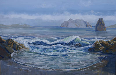 Olympic National Park Painting - James Island by Heather Coen