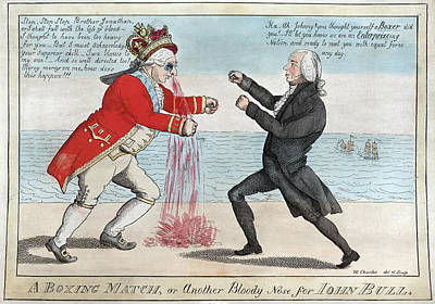 James Madison, A Boxing Match, Or Art Print by Everett