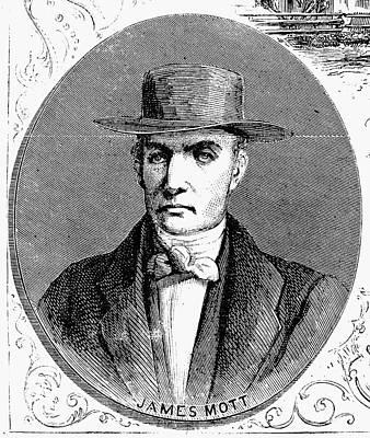 Abolition Photograph - James Mott (1788-1868) by Granger