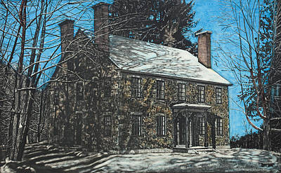 Painting - James Paul House In Durham Nh by Robert Goudreau