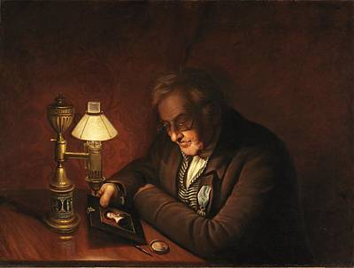 Oil Lamp Painting - James Peale by Charles Willson Peale