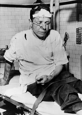 James Peck, Bleeding On A Hospital Print by Everett