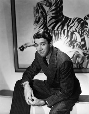 Lapel Photograph - James Stewart, Ca. Mid-late 1930s by Everett