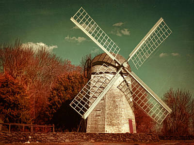 Jamestown Windmill Print by Lourry Legarde