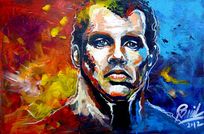 Jamie Carragher Portrait Art Print by Ramil Roscom Guerra