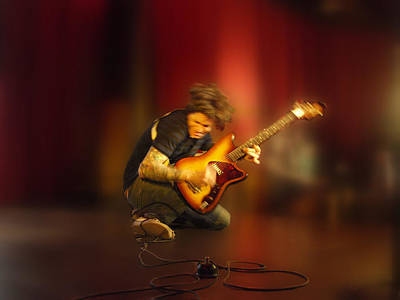 Photograph - Jammin Guitar by James Granberry