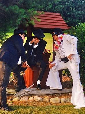 Elvis Impersonators Photograph - Jammin' by Randy Rosenberger