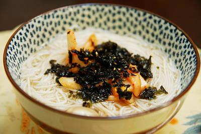 Janchi Guksu - Korean Noodles Art Print by Sue Hwang