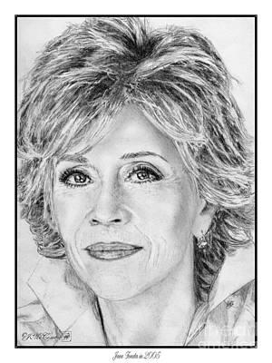 Jane Fonda In 2005 Print by J McCombie