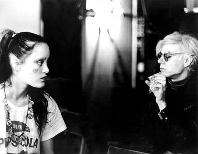 On Set Photograph - Jane Forth And Andy Warhol On The Set by Everett