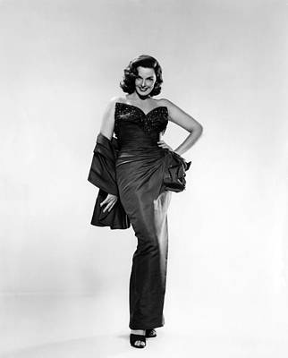 Gathered Dress Photograph - Jane Russell, Ca. Early 1950s by Everett