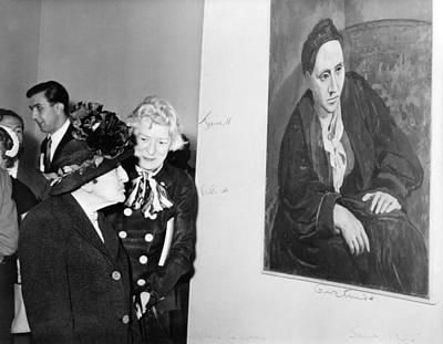 Stein Photograph - Janet Flanner 1892-1978 Standing by Everett