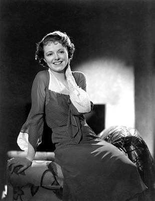 Cleft Chin Photograph - Janet Gaynor, Ca. 1933 by Everett